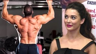 Amy Jackson Praises Salman Khan's Gym Bodybuilding Workout & Fitness In Public