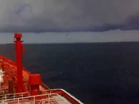 Small hurricane we faced in the Algerian sea near the port of Arzew