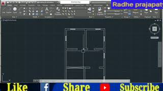 How to draw a simple plan in auto cad