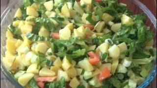 Patates Salatası 5 Dakikada Hazır - İkramlık Tarif