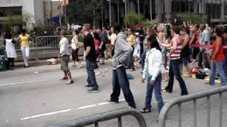 Oprah Black Eyed Peas  Close Up Choreography on Michigan Ave.