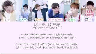 JJCC(제이제이씨씨)- ToDay (오늘 한번) Color Coded Lyrics [Han/Rom/Eng]