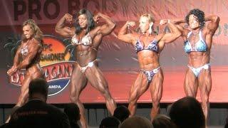 Women's Bodybuilding Posedown 2014 IFBB PBW Tampa Pro Sheila Bleck Jennifer Sedia Monique Jones