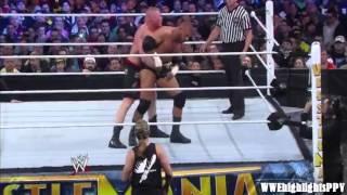 WWE Wrestlemania 29 - Brock Lesnar vs. Triple H Highlights ᴴᴰ - YouTube