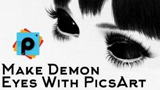 PicsArt Editing Tutorial | Make Demon Eyes with PicsArt | Eyes Muniplution | Best PicsArt Tutorials