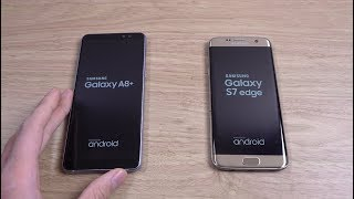 Samsung Galaxy A8 Plus 2018 vs S7 Edge - SPeed Test!