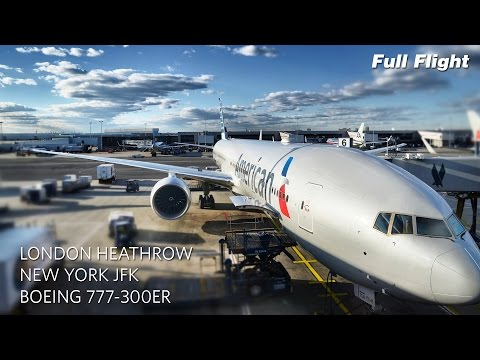 American Airlines Boeing 777-300ER Full Flight: London to New York (AA107) (with ATC)