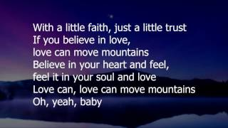 Love Can Move Mountains by Celine Dion (lyrics)