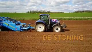 Potato Planting. Gloucestershire U.K. (4K)