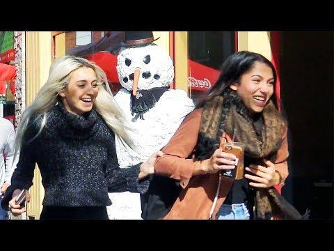 Scary Snowman Prank 2017 USA Angry Snowman Tour