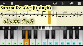 sanam re-Simple Mobile Perfect Piano Tutorial