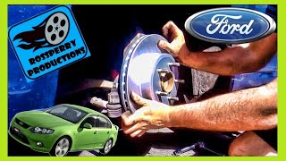 How To Change Ford Falcon Front Brake Pad & Disc Rotors - Replacement Tutorial DIY, FG BF, XR6, XR8
