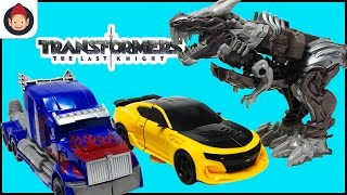 Transformers The Last Knight Toys Knight Armor Turbo Changer Optimus Prime Grimlock Bumblebee