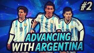 FIFA 15 | ADVANCING WITH ARGENTINA (Road to Glory) #2! Late game thrillers!
