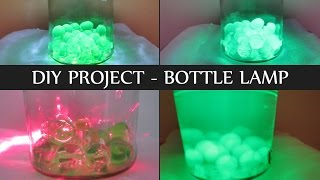 Bottle Lamp - DIY Room Decor Bottle Lamp Ideas - How to Make Bottle Lamp at home, Make Lava Lamp