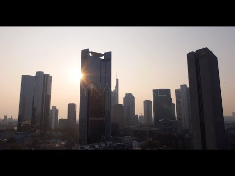 Frankfurt Luftaufnahmen per Drohne - Skyline Drone 4K Aerial Stock Footage