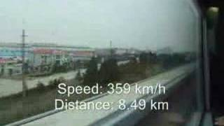 Maglev Tour Shanghai(full ride)with Speedometer and Distance