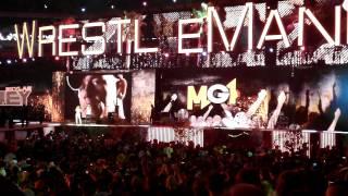 Wrestlemania 28 - John Cena full Entrance - MGK - Invincible - 04/01/12