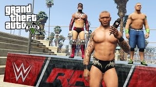 WWE SU GTA 5! JOHN CENA & WRESTLING ESTREMO! RANDY ORTON, BROCK LESNAR & FINN BALOR!