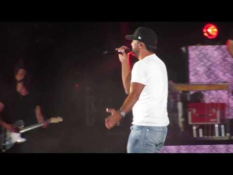 Luke Bryan singing Play it Again in Concert at Fenway Park 7618