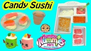 Yummy Nummies Kitchen Magic Gummy Candy Sushi Surprise Food Maker Playset - Cookieswirlc Video