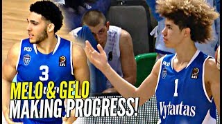 LaMelo & LiAngelo Ball MAKING PROGRESS! 2nd League Game!! Gelo Gets His Grown Man On!!