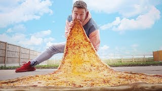 I Made the World Biggest Slice of Pizza... and Ate It All!