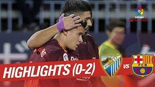 Resumen de Málaga CF vs FC Barcelona (0-2)