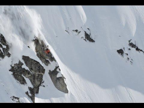 Skier Launches Massive Front flip & Lands Impossible Crash