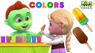 Learn COLORS with ICE CANDY | Greeny Kiddo Teach Colors for Children - KidsOne