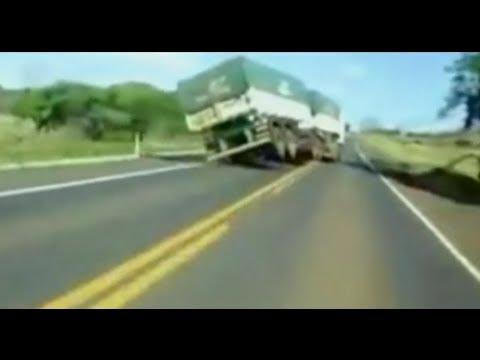 Fantástico Caminhoneiros gravam manobras arriscadas quebrando asa