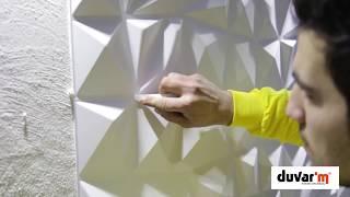 3D Wall Panels - 3 boyutlu duvar paneli uygulaması - duvarım.com.tr-3dduvarpaneli.com