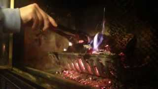 ★ Stoking a Fire for your ASMR ★  Crackling, burning, metal sounds, fire sounds ★ No Talking