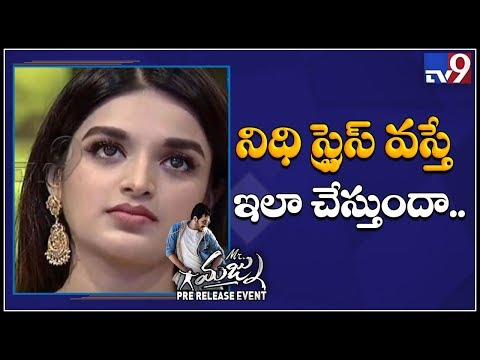 Xxx Mp4 Nidhhi Agerwal Cries When She Is Stressed Mr Majnu Pre Release Event TV9 3gp Sex