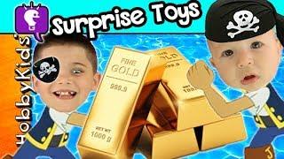 GOLD + DIAMOND Hunt! Chocolate Pirate Candy Taste Test by HobbyKidsTV
