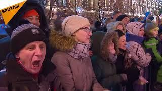 ولادیمیر پوتین در مسابقه هاکی میدان سرخ