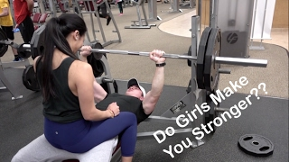 GIRL ON LAP BENCH PRESS | Does It Work? | Oliver Ta