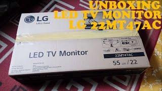 Unboxing LED TV Monitor LG 22MT47AC Indonesia