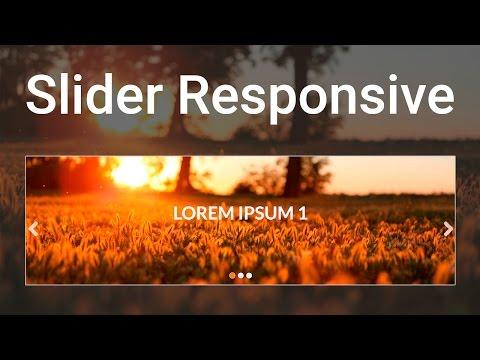 Como Hacer un Slider Responsive para tu sitio web ( html,css y js )