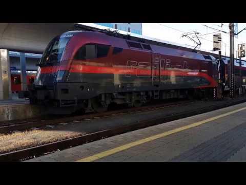 Abfahrt ÖBB 1116 200-7 Railjet mit typischer Tonleiter