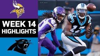 Vikings vs. Panthers | NFL Week 14 Game Highlights