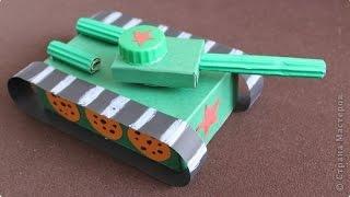 ТАНК ИЗ БУМАГИ своими руками Как сделать танк из бумаги - ????? ????