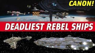 5 Deadliest Rebel Capital Ships | Star Wars CANON