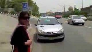 Hitching rides in Tehran