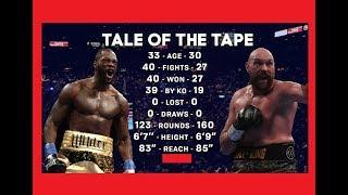 Deontay Wilder vs. Tyson Fury | AKOthePERSIANkiller-vorhersage / gegenüberstellung!