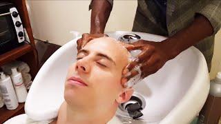 Old School Senegalese Barber - Face shave with shavette part 2 - ASMR video