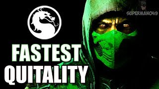 REPTILE GETS MY FASTEST QUITALITY EVER! - Mortal Kombat X