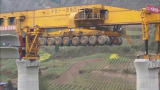 Monster Machine Builds Bridges in China   how Do They Do It