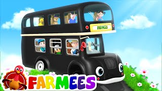 Wheels On The Bus  | Bus Cartoon Videos For Children by Farmees
