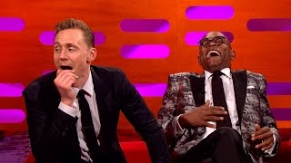 Tom Hiddleston's pole dancing fan art - The Graham Norton Show - Series 19 Episode 7 Preview - BBC